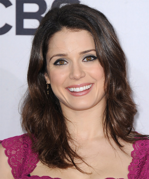 Ali Cobrin Long Wavy Casual Hairstyle - Dark Brunette Hair Color