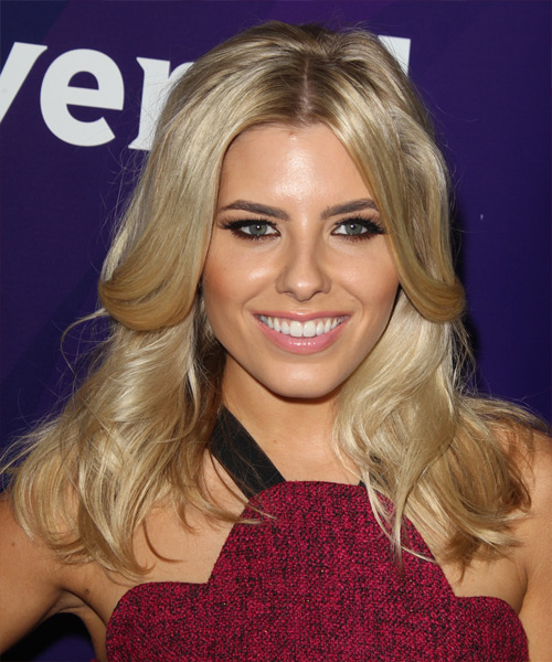 Mollie King Long Straight Hairstyle - Medium Blonde