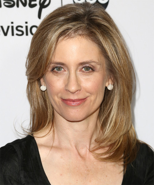 Helen Slater Medium Straight Hairstyle - Dark Blonde (Golden)