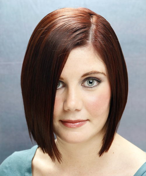 Medium Straight Casual Bob Hairstyle (Mocha)