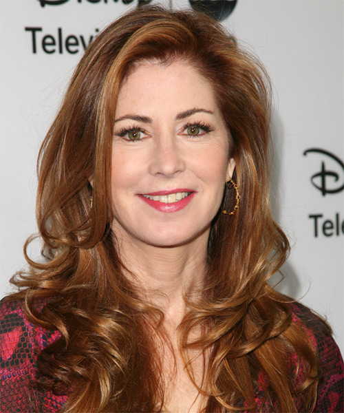Dana Delaney Long Straight Hairstyle - Medium Brunette (Copper)