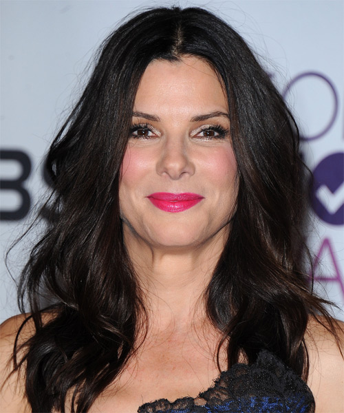 Sandra Bullock Long Straight Hairstyle - Black