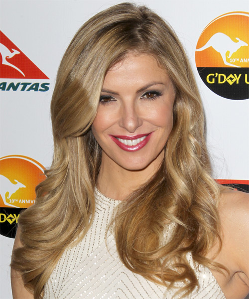 Laura Csortan Long Wavy Hairstyle - Medium Blonde (Golden)