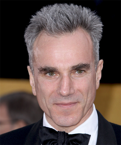 Daniel Day-Lewis Short Straight Hairstyle