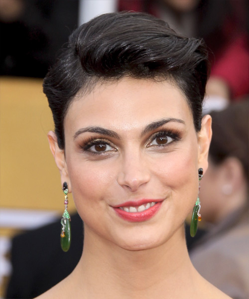Morena Baccarin Short Straight Formal Hairstyle