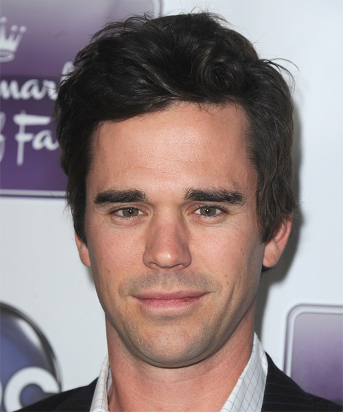 David Walton Short Straight Casual Hairstyle - Dark Brunette Hair Color