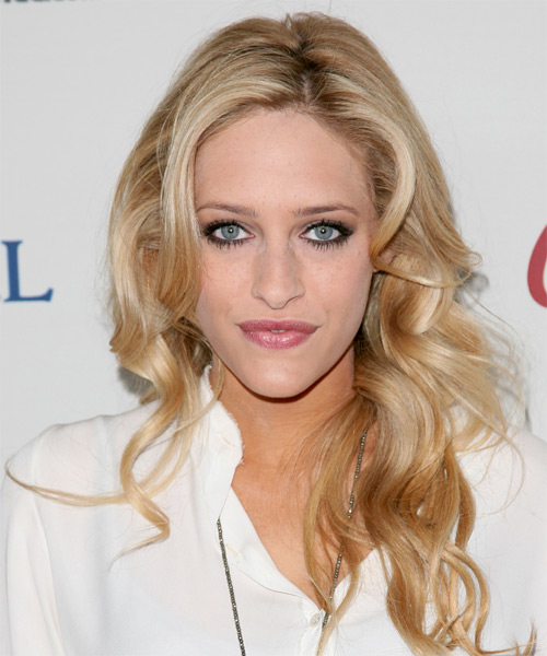 Carly Chaikin Long Wavy Hairstyle - Medium Blonde (Honey)