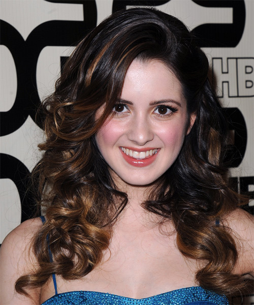Laura Marano Long Wavy Formal  - Dark Brunette