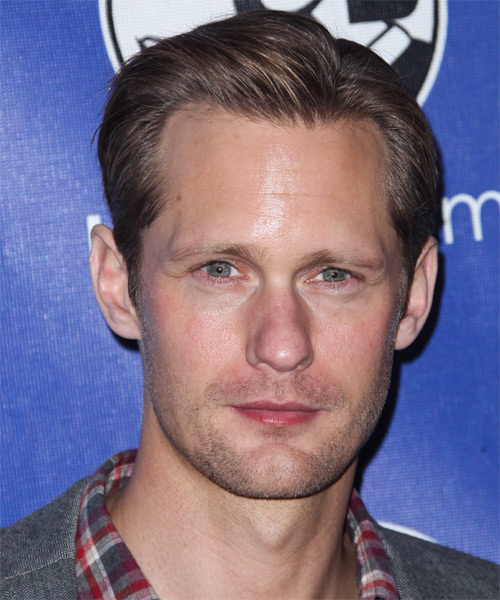 Alexander Skarsgard Short Straight Formal Hairstyle - Medium Brunette (Chocolate) Hair Color