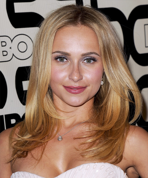 Hayden Panettiere Long Straight Casual Hairstyle - Medium Blonde (Golden) Hair Color