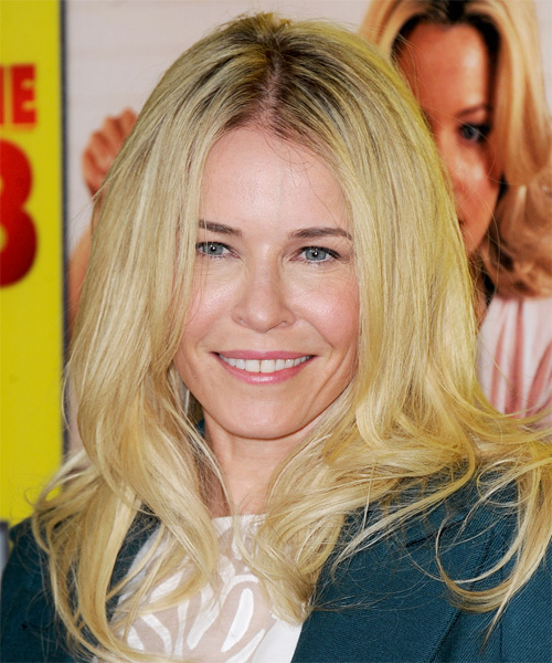Chelsea Handler Long Straight Hairstyle - Medium Blonde