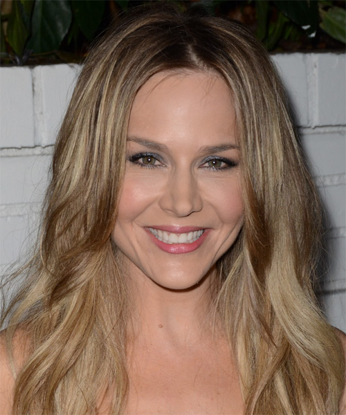 Julie Benz Long Straight Casual Hairstyle - Medium Blonde (Champagne) Hair Color