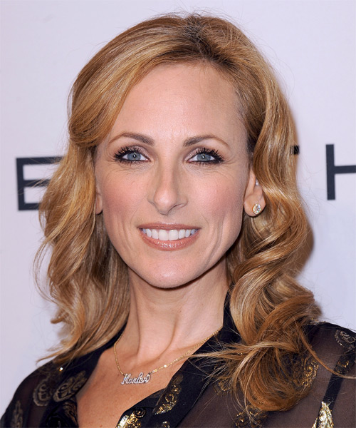Marlee Matlin Long Wavy Hairstyle - Medium Blonde (Copper)