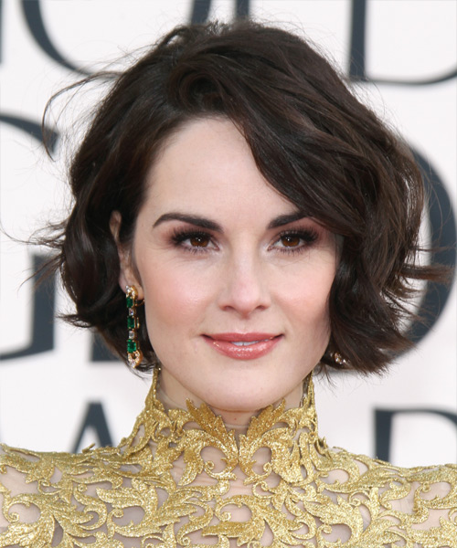 Michelle Dockery Short Straight Hairstyle - Dark Brunette (Mocha)