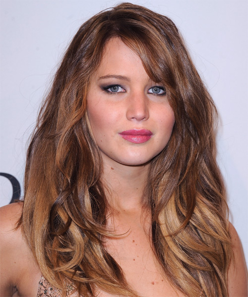 Jennifer Lawrence - Casual Long Straight Hairstyle