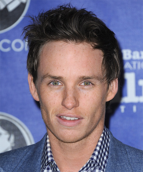 Eddie Redmayne Short Straight Casual Hairstyle - Dark Brunette (Ash)