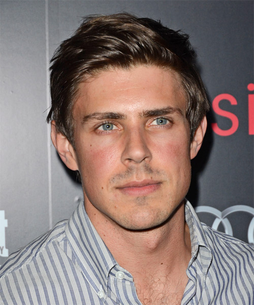 Chris Lowell Short Straight Hairstyle - Medium Brunette