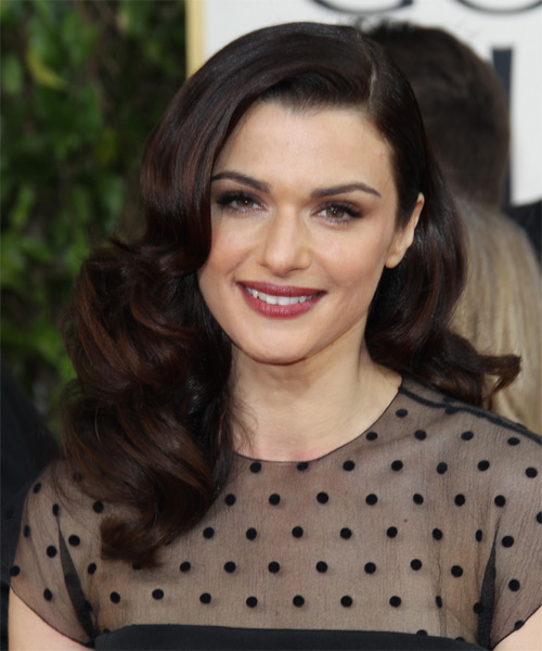 Rachel Weisz Long Wavy Formal Hairstyle - Dark Brunette (Mocha) Hair Color