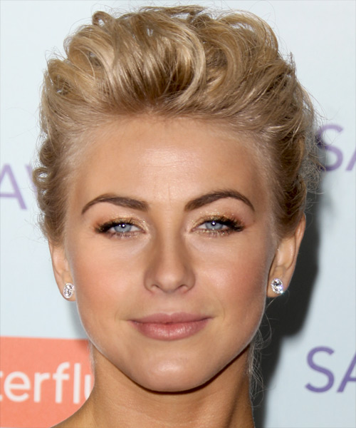 Julianne Hough Curly Formal Updo Hairstyle - Light Blonde (Golden) Hair Color