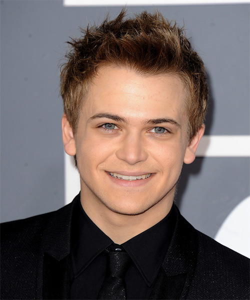 Hunter Hayes Short Straight Hairstyle - Dark Blonde