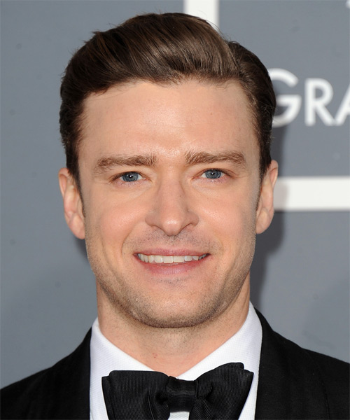 Justin Timberlake Short Straight Hairstyle - Dark Brunette