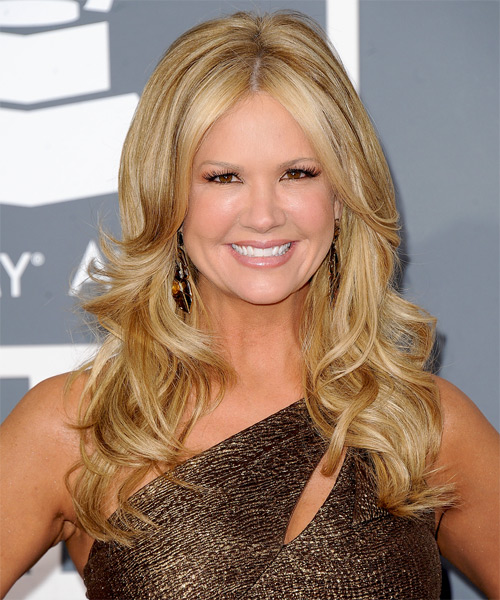 Nancy O Dell Long Straight Formal Hairstyle - Medium Blonde (Golden) Hair Color