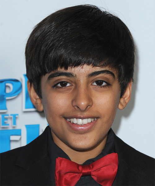 Karan Brar Medium Straight Hairstyle - Black