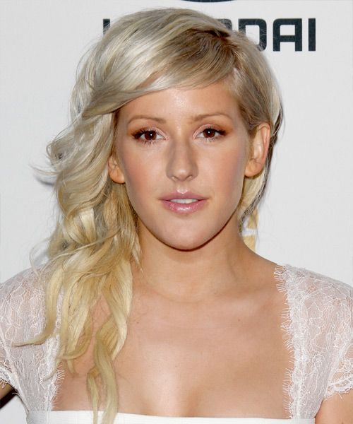 Ellie Goulding Long Wavy Formal Hairstyle - Light Blonde Hair Color