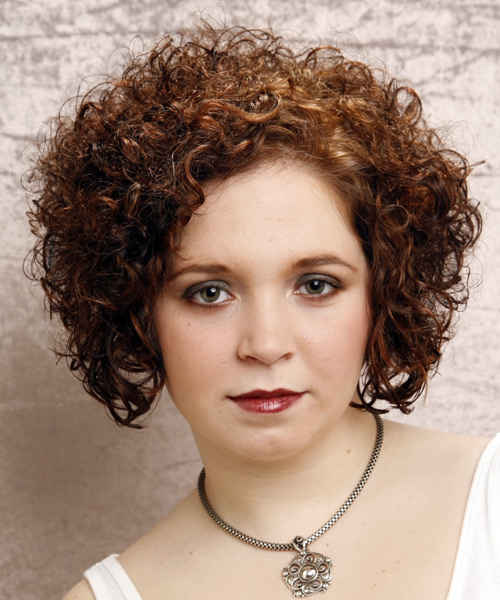 Short Curly Formal Hairstyle - Dark Brunette (Auburn) Hair Color