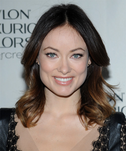 Olivia Wilde Medium Straight Casual  - Dark Brunette