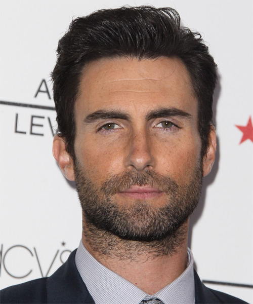 Adam levine short straight formal hairstyle black hair color urmus