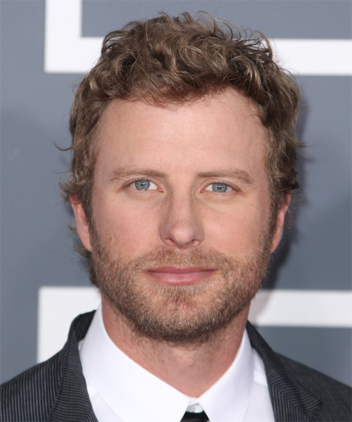 Dierks Bentley Short Curly Casual Hairstyle - Dark Blonde (Strawberry) Hair Color