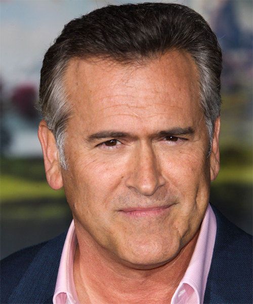Bruce Campbell Short Straight Hairstyle - Dark Grey