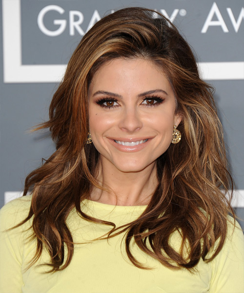 Maria Menounos Long Straight Hairstyle - Dark Brunette