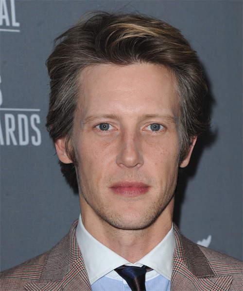 Gabriel Mann Short Straight Formal Hairstyle - Medium Brunette (Grey) Hair Color