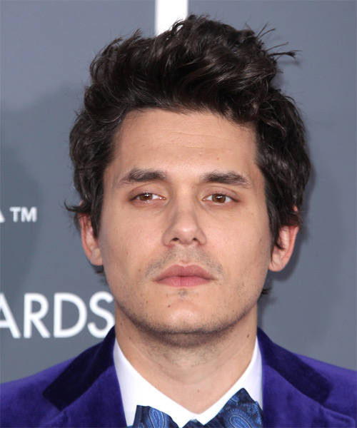 John Mayer Short Straight Hairstyle - Dark Brunette (Mocha)