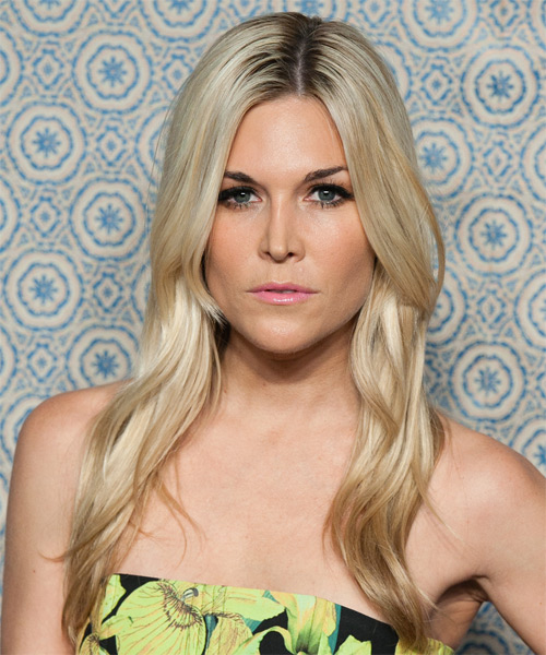 Tinsley Mortimer Long Straight Casual Hairstyle - Light Blonde Hair Color