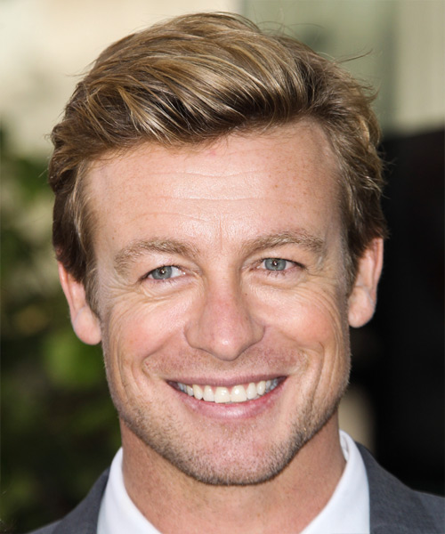 Simon Baker Short Straight Casual Hairstyle - Medium Blonde Hair Color
