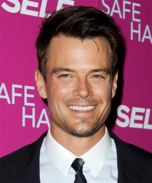 Josh Duhamel Short Straight Formal Hairstyle - Dark Brunette Hair Color