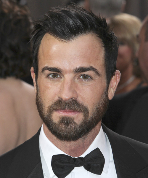 Justin Theroux Short Straight Hairstyle - Black
