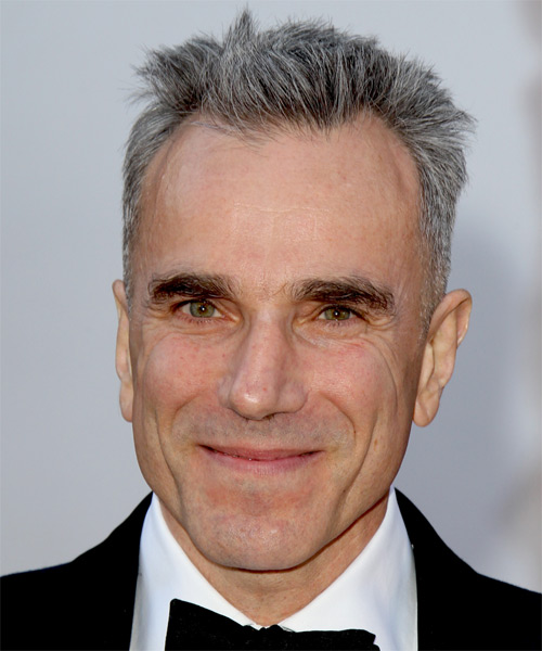 Daniel Day Lewis Short Straight Hairstyle - Medium Grey