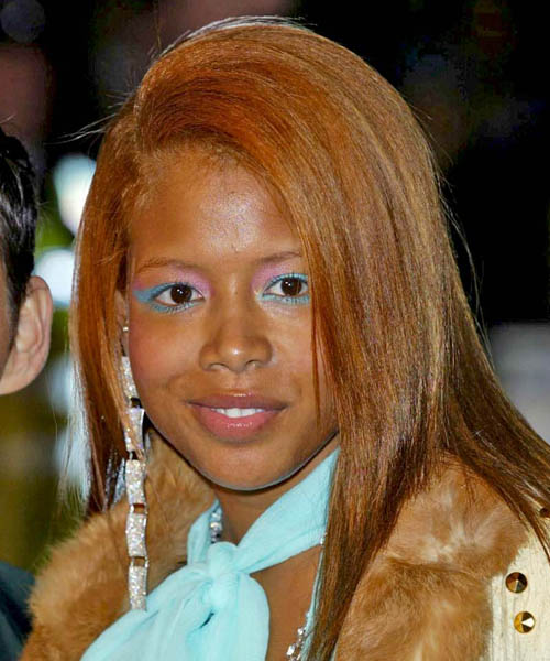 Kelis Long Straight Hairstyle