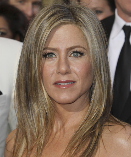 Jennifer Aniston Long Straight Casual Hairstyle - Medium Blonde (Ash) Hair Color