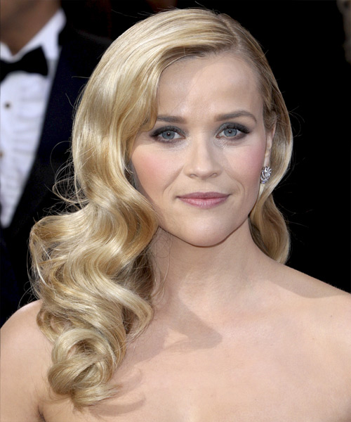 Reese Witherspoon Long Wavy Formal Hairstyle - Light Blonde Hair Color