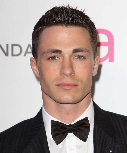 Colton Haynes Short Straight Hairstyle - Medium Brunette (Chocolate)