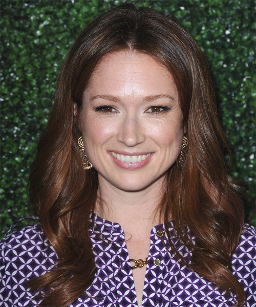 Ellie Kemper Long Wavy Formal Hairstyle - Medium Brunette (Chocolate) Hair Color