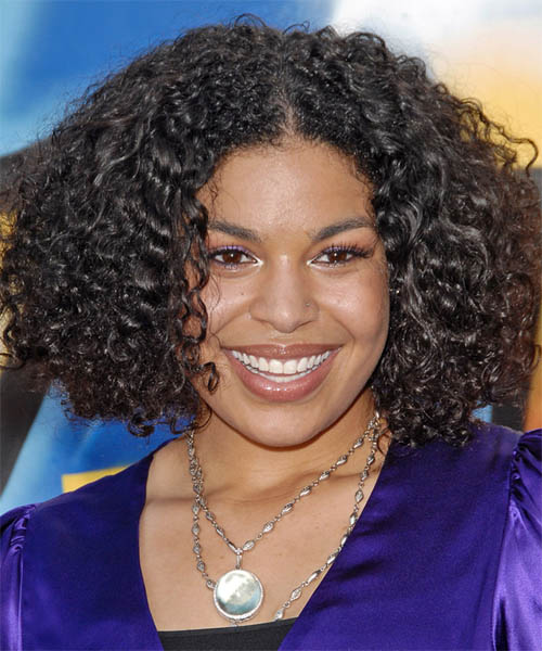 Jordin Sparks Medium Curly Casual Hairstyle