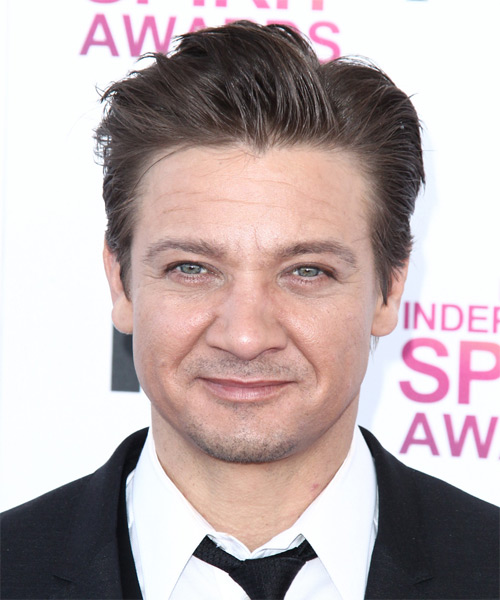 Jeremy Renner Short Straight Formal Hairstyle - Medium Brunette Hair Color