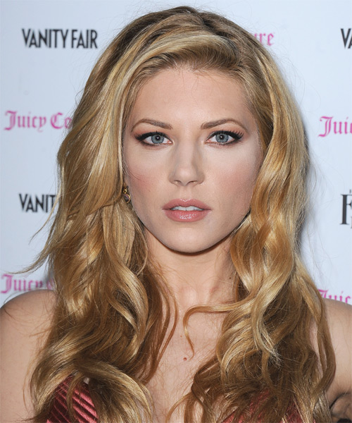 Katheryn Winnick Long Wavy Casual Hairstyle - Medium Blonde (Golden) Hair Color