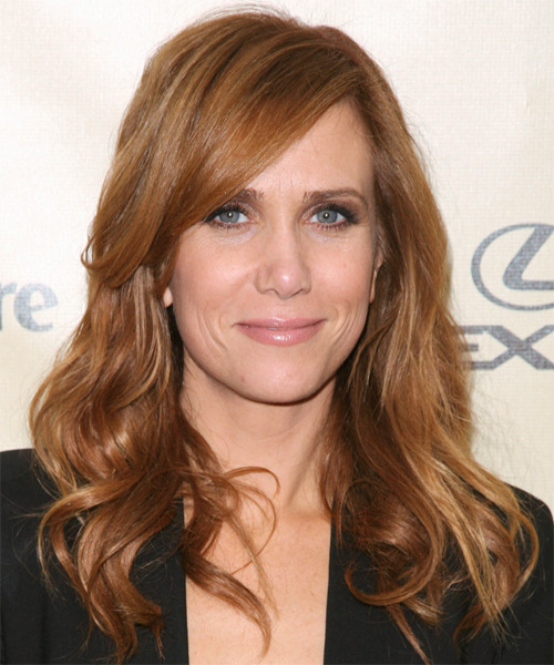 Kristen Wiig Long Wavy Hairstyle - Medium Red (Copper)